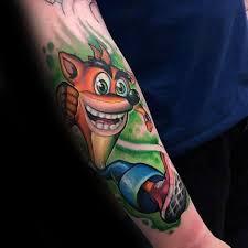 40 crash bandicoot tattoo designs for men video game ideas