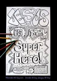 jesus superhero coloring thoughtsofesme
