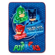 pj masks blue throw blanket 46