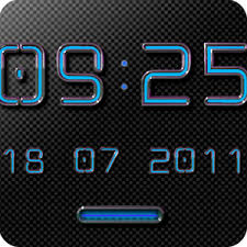 digital clock widget apk app neon blue digital clock widget apk for windows phone android
