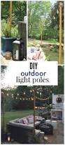 Led Patio Lights String by Diy Outdoor Light Poles City Farmhouse