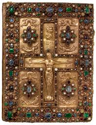 jeweled upper cover of the lindau gospels ms m 1 front cover
