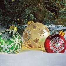 Diy Outdoor Lawn Christmas Decorations Light Up Christmas Balls Outdoors Sacharoff Decoration