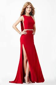 red jersey sheer crystal embellished back dress