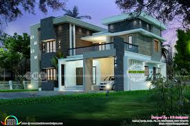 sqft modern and stylish house plan kerala home design ideas 2017