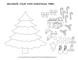 coloring page for christmas tree