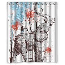 unique design creative aztec elephant tree shower curtain 60