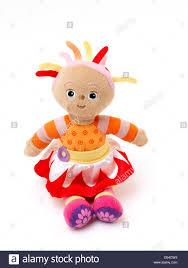 soft doll upsy daisy night garden stock photo royalty
