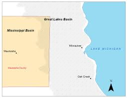 Map Of Great Lakes Waukesha Presses First Test Of Great Lakes Water Compact Circle