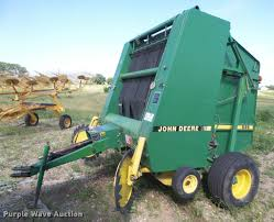 1989 john deere 535 round baler item da6458 sold july 1