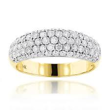 ladies rings diamond images Pave diamond rings 14k gold ladies round diamond wedding band 1 52ct jpg