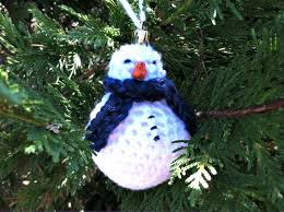 chilly snowman ornament crochet pattern stitch and unwind