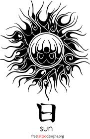 65 sun tattoos tribal sun designs