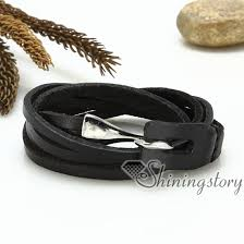 leather wrap bracelet men images Genuine leather wrap bracelets multi triple layers hook bracelets jpg