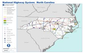 Map Of North Carolina Cities The Interstate Highway System North Carolina Digital History