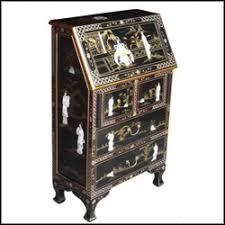 bureau furniture of pearl black lacquer bureau handmade furniture