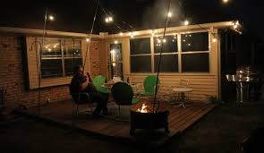 String Of Patio Lights Outdoor Lighting How To Hang Patio Lights The Easy Way