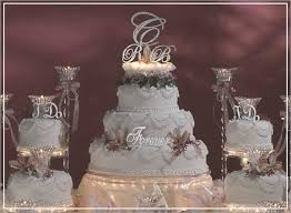 monogram cake toppers for weddings swarovski monogram cake top initials