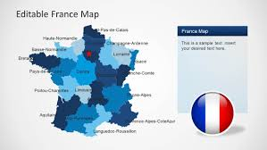 Calais France Map by Editable France Map Template For Powerpoint Slidemodel