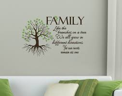 cover your walls with family ideals using wall decal stickers wd475 wall decal sticker like the branches on a tree we all grow in different