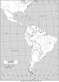 Blank Map Of South America by Maps Latin America Map Physical