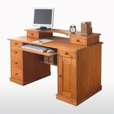 bureau pin miel bureau informatique pin massif acheter ce produit au meilleur prix