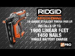 ridgid hyperdrive brushless finish nailers the home depot youtube