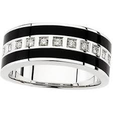 Amazon Wedding Rings by Amazon Com 14 Karat White Gold Mens Black Onyx Diamond Wedding
