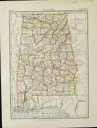 Alabama Maps Prints Old U0026 Rare Alabama