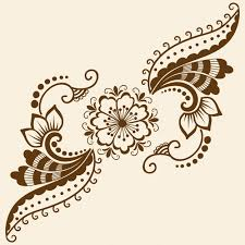 mehndi cards vector illustration of mehndi ornament traditional indian style