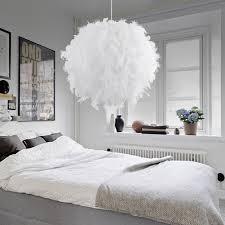 romantic creative feather led e27 bedroom pendant lamp wedding