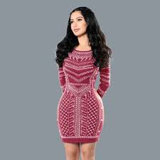 vestido bandage 1566 classical wave point 3d vestido bandage backless club