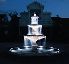 Outdoor Water Features With Lights by Landscape Lighting Pond U0026 Fountain World Outdoor U0026 Indoor