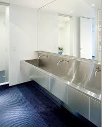 troff sinks bathroom ny loft by delson sherman trough like stainless steel sink in
