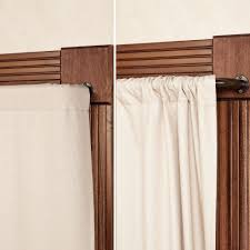 accessories curtain rods wrap around in wonderful silver