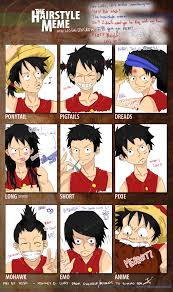 hairstyle meme monkey d luffy by hoshidkcrow on deviantart
