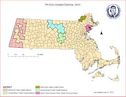 Map Of Boston Massachusetts by Maps Of Public Health Districts In Massachusetts Ma Public