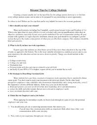 Resume Samples For Students Resume Template College Student Template Idea