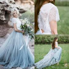 discount 2017 boho modest country lace wedding dresses with