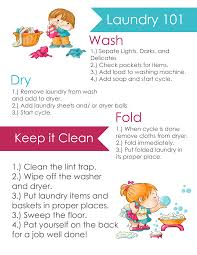 download a free laundry 101 printable for kids hang in the