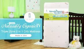 2 In 1 Crib Mattress La Baby Iv Zone 2 In 1 Soy Foam Crib