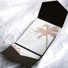 tropical wedding invitations tropical pocket wedding invitation sets ewpi005 as low as