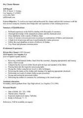 cleaner resume template cleaner resume sle resume for early childhood
