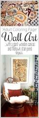 make coloring book coloring book inspired stained art on a wood canvas
