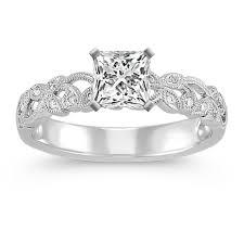 what is milgrain vintage vine and milgrain detailed diamond engagement ring shane co