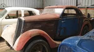 classic peugeot coupe french barn find 1936 peugeot 301d coupe