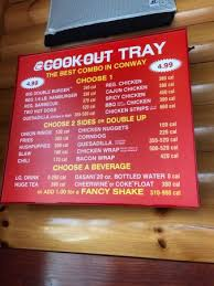 cookout restaurant conway restaurant reviews phone number