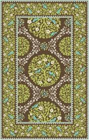 Green And Brown Area Rugs Vera Bradley Signature Vby074a Sittin In A Tree Green Brown