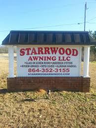 Carroll Awning Company Starrwood Awning Company Awning Supplier Starr South Carolina