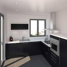 cuisine noir et blanc laqué impressionnant cuisine noir et blanc inspirations avec cuisine noir